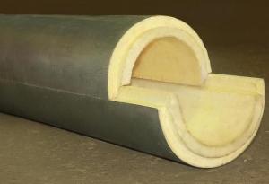 Скорлупа ППУ с покрытием из пергамина (битумная бумага)