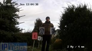 Відстань розпізнавання особи 2х Мп ip камерою Hikvision DS-2CD2122F-I на відстані 3 метрf