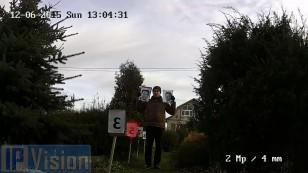 Відстань розпізнавання особи 2х Мп ip камерою Hikvision DS-2CD2122F-I на відстані 5 метрів