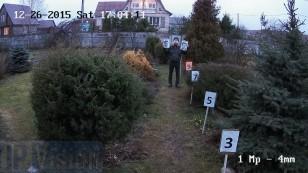 Відстань розпізнавання особи ip камерою Hikvision DS-2CD2012-I на відстані 9 метрів