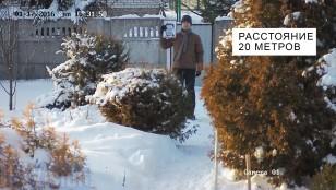 Відстань розпізнавання обличчя 4-х Мп ip камерою Hikvision DS-2CD2T42WD-I8 на відстані 20 метрів