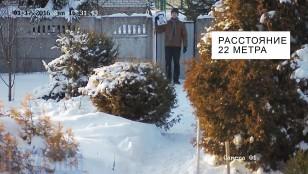Відстань розпізнавання обличчя 4-х Мп ip камерою Hikvision DS-2CD2T42WD-I8 на відстані 22 метри