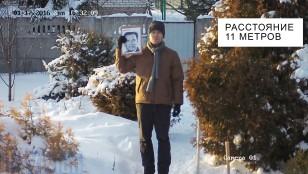 Відстань розпізнавання обличчя 4-х Мп ip камерою Hikvision DS-2CD2T42WD-I8 на відстані 11 метрів