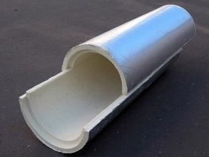 Скорлупа ППУ с покрытием из фольги