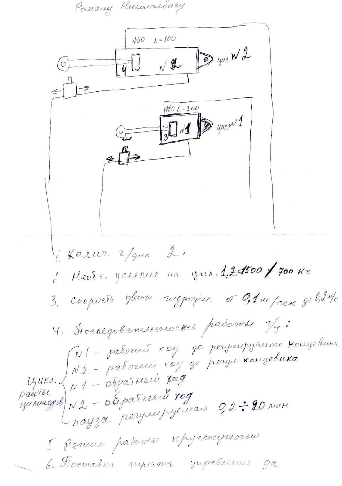 Пример заполнения опросного листа при заказе маслостанции. Лист2.