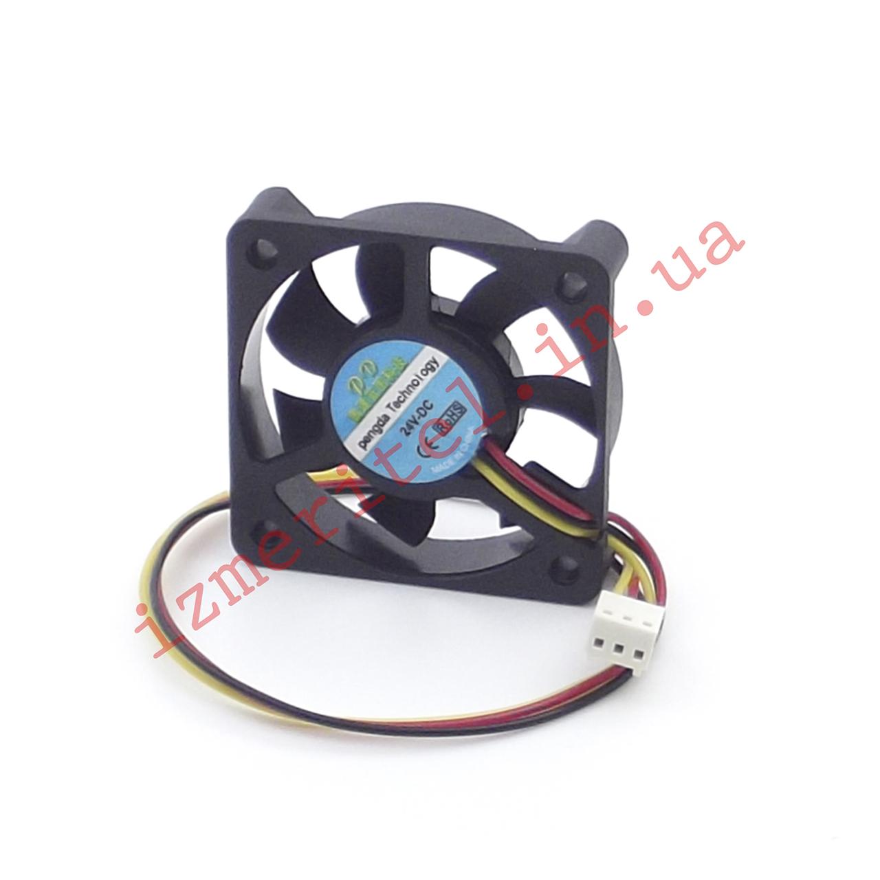 Вентилятор 50х50х10мм 24В (3 провода)