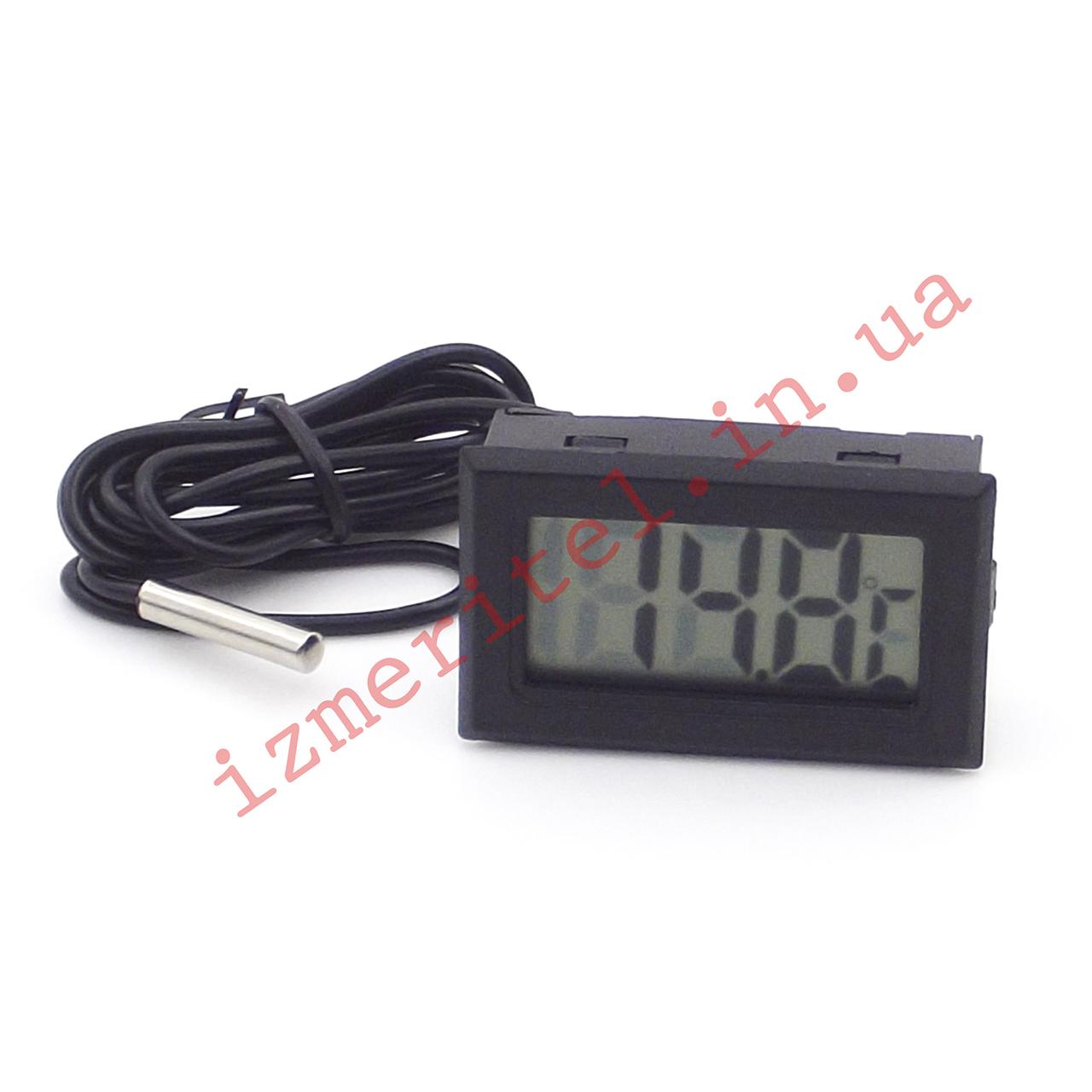 Цифровой термометр с выносным датчиком -50...+110 °С, 1 метр