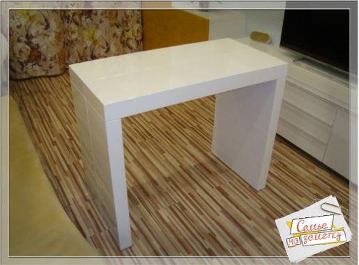 Стол консоль трансформер в сложенном виде