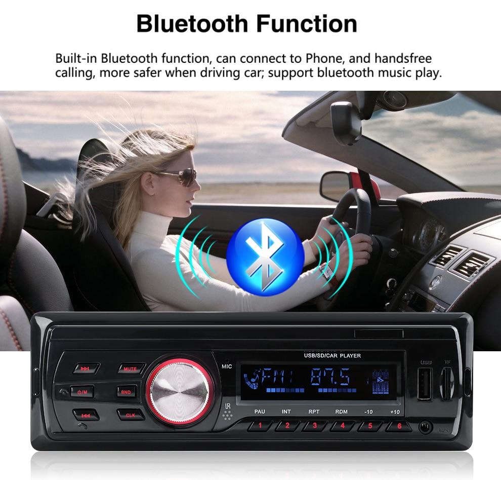2018 Новый Autoradio 1583 12V Автомобильный радиоприемник Bluetooth 1 din Стерео радиоприемники AUX-IN FMUSB-ресивер MP3-плеер Мультимедиа Автомобильная аудиосистема (1)