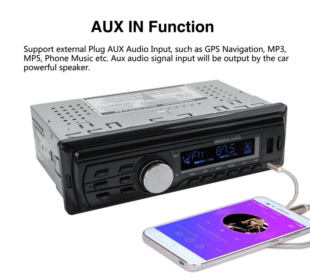 2018 Новый Autoradio 1583 12V Автомобильный радиоприемник Bluetooth 1 din Стерео радиоприемники AUX-IN FMUSB-ресивер MP3-плеер Мультимедиа Автомобильная аудиосистема (8)