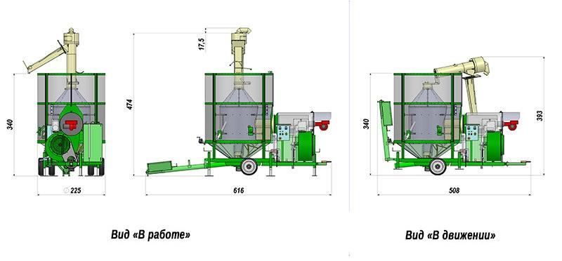 Мобильные зерносушилки Agrimec AS 1300