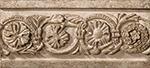 Vallelunga Villa D'este +20762 Бордюр керамич. V.D'ESTE TORTORA LISTELLO TIBUR, 6,5x15