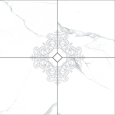 Vallelunga I Marmi +23732 Панно керамич. I MARMI CARRARA COMPOSIZIONE 4 PZ DEC.MAXI, 120x120
