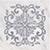 Vallelunga I Marmi +23733 Вставка керамич. TOZZETTI IN MARMO BLANCO CARRARA LASER ARGENTO, 7x7