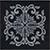 Vallelunga I Marmi +23734 Вставка керамич. TOZZETTI IN MARMO NERO MARQUINIA LASER ARGENTO, 7x7