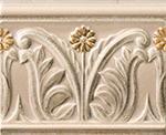 Vallelunga Rialto +23754 Бордюр керамич. RIALTO TORT.L/FLO.PA  12X15, 12x15