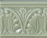 Vallelunga Rialto +24901 Бордюр керамич. RIALTO VIN/BLU L.FL. 12X15, 12x15