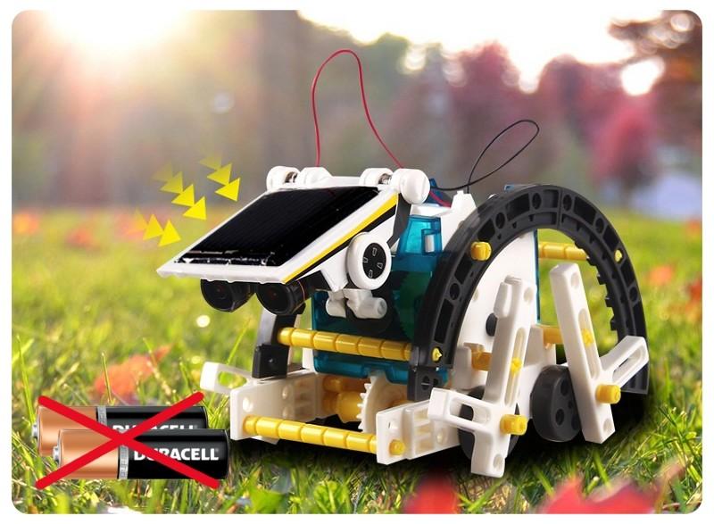 Solar Robot - конструктор на солнечных батареях 14 в 1