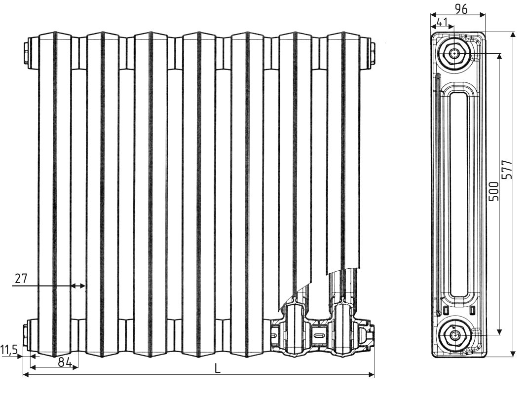radiator RC-100 shema