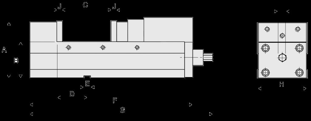 Тиски высокоточные Homge HPAV-130 (160, 160L, 200) - схема