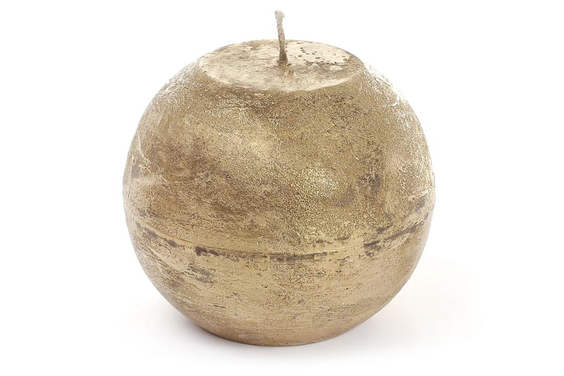 Свеча в форме шара 10см цвет золото BonaDi B010_1-9.2