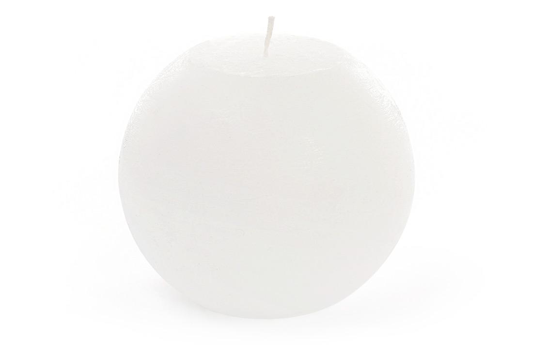 Свеча в форме шара 12см, цвет - белый