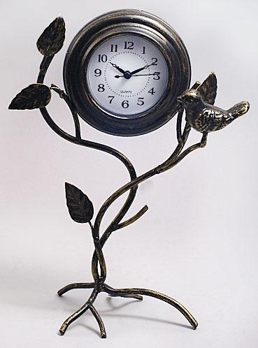 Часы металлические Ветка с птичкой, 30см