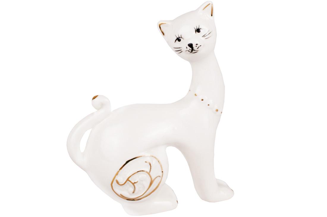 Декоративная фарфоровая статуэтка Кошка 9.5см