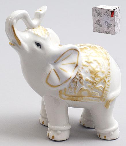 Декоративная фарфоровая статуэтка Слоник 11.5см