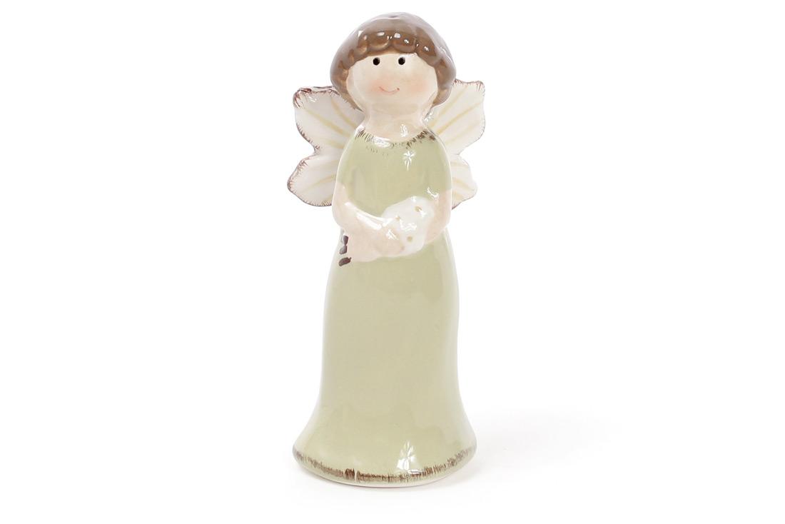 Пасхальный декор Ангел 9.3см, цвет - мятный