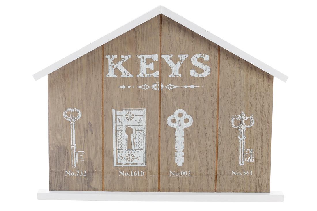 Ключница деревянная (4 крючка)