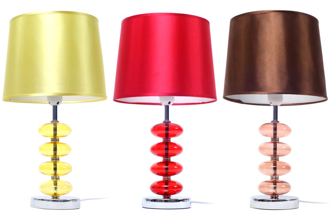 Лампа с абажуром 27.5см, 3 вида