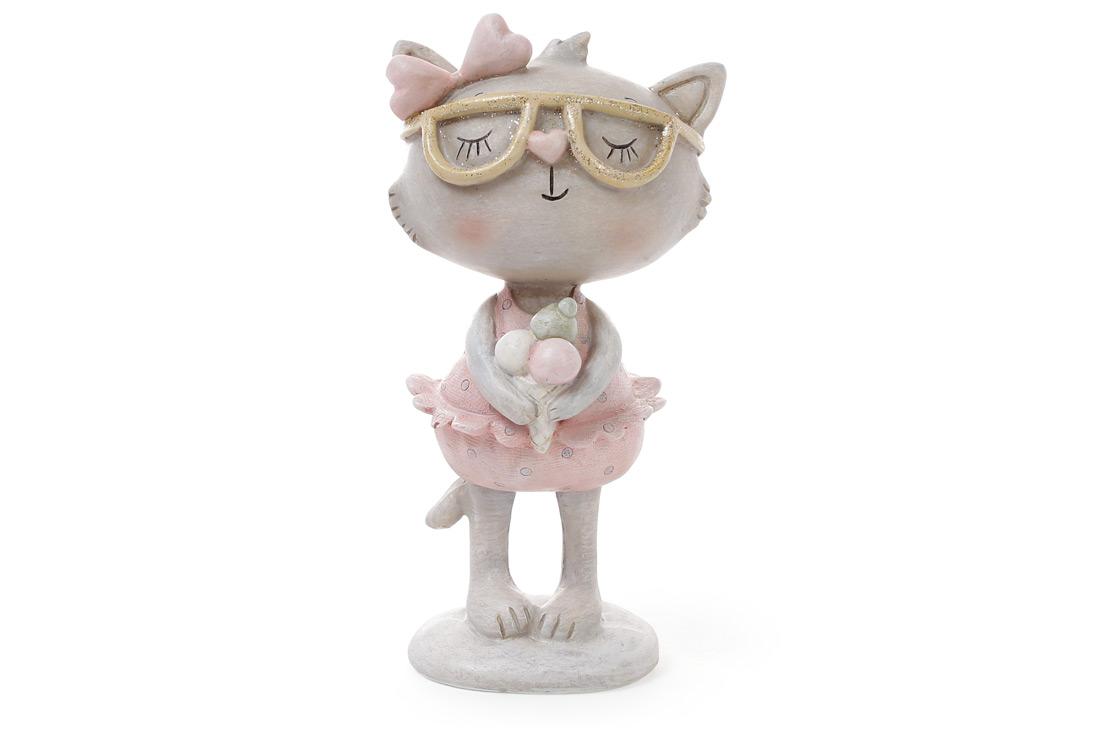 Декоративная фигрука Кошка с мороженым 14.3см