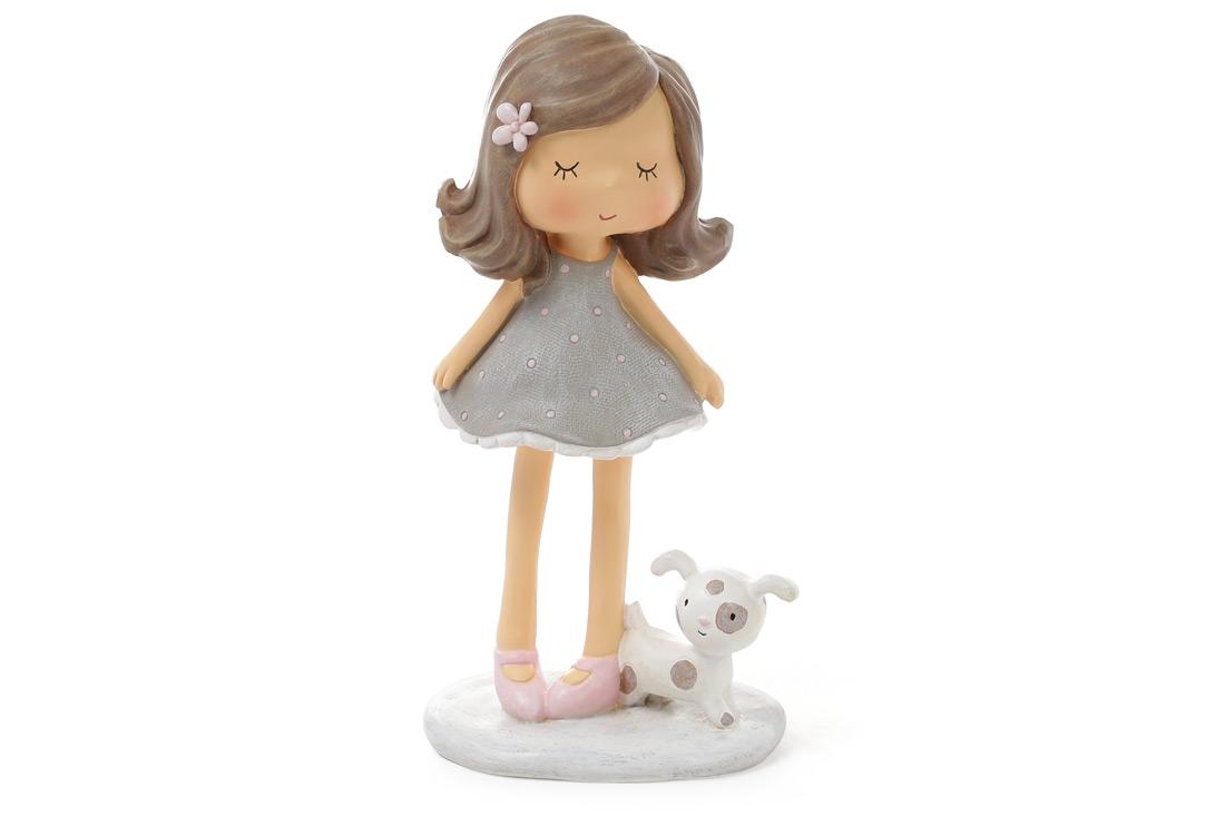 Статуэтка Девочка с собачкой 16см