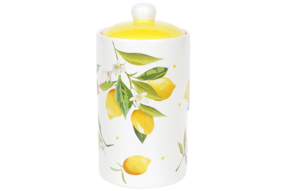 Банка керамическая 1л Сочные лимоны BonaDi DM111Y
