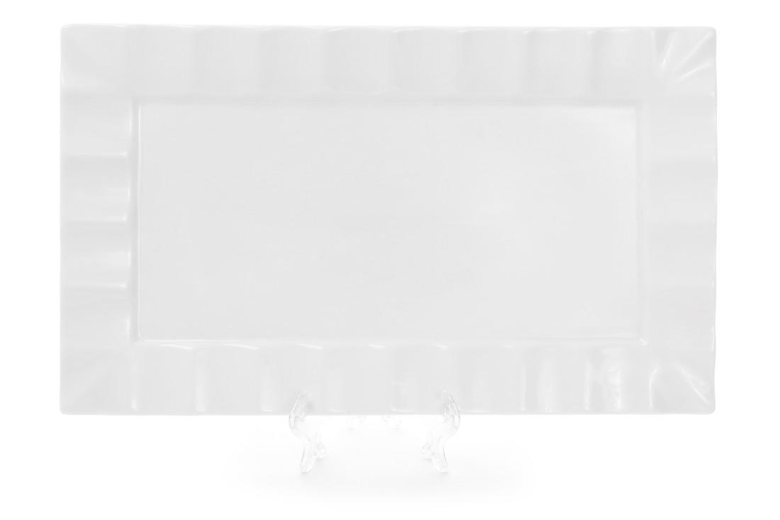 Тарелка для суши прямоугольная 36см цвет белый BonaDi 988-105