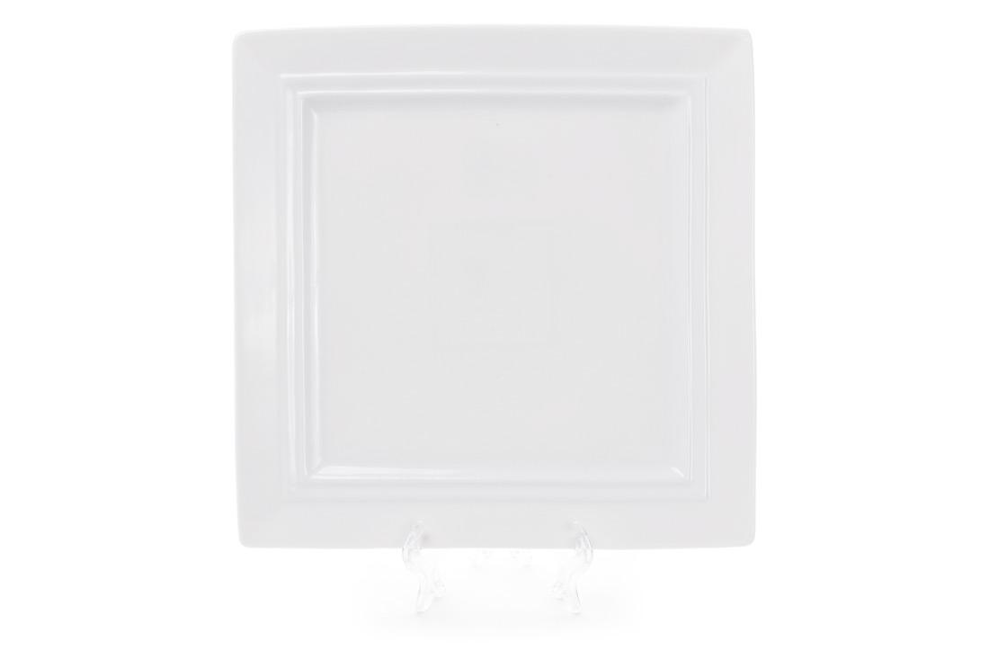 Тарелка фарфоровая квадратная 25см цвет белый BonaDi 988-101