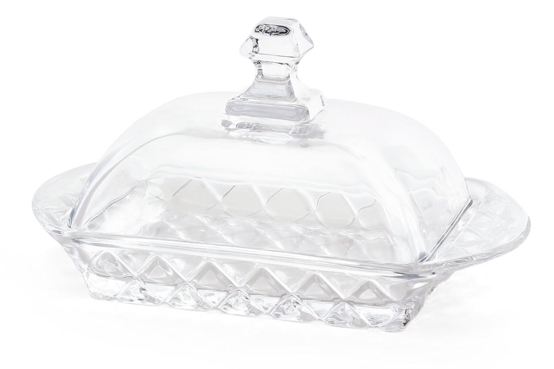 Масленка стеклянная 17 3см