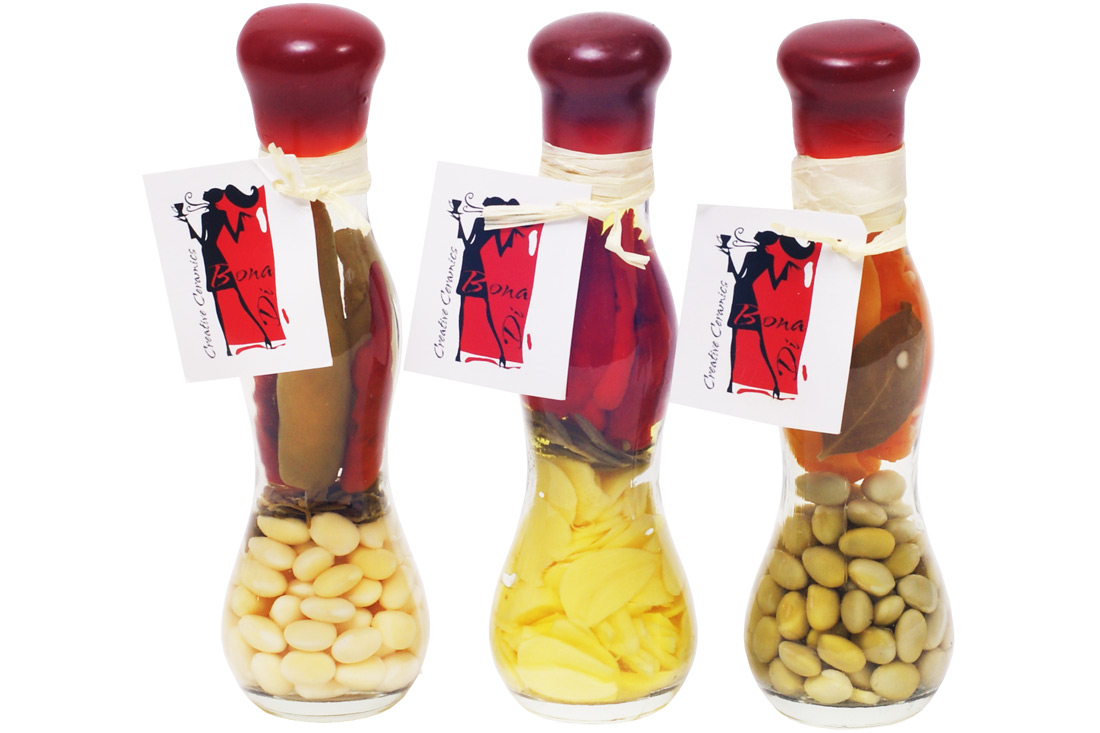 Декоративная бутылка с овощами, 16.8см, 3 вида