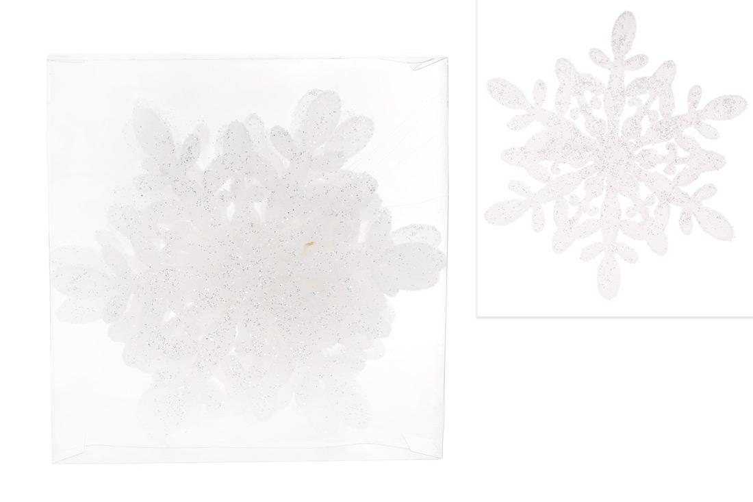 Набор декоративных снежинок 15см