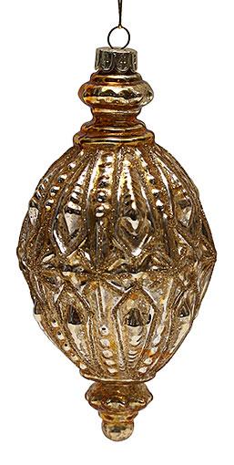 Елочное украшение 15,5см антик золото