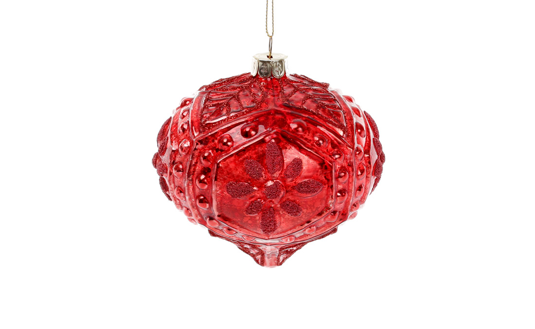 Елочное украшение 10см цвет - красный гренадин BonaDi NY15-387