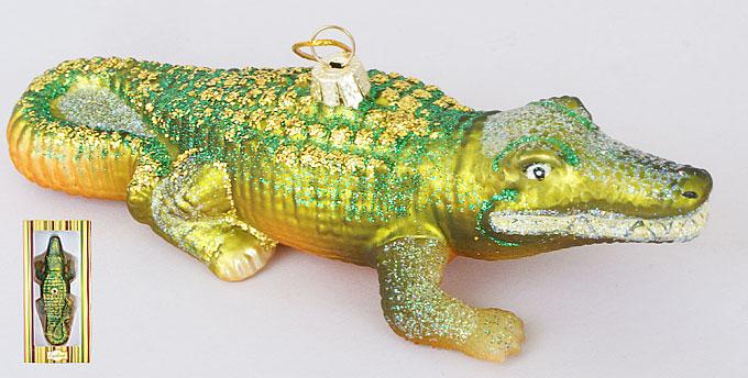 Елочное украшение Крокодил 15см