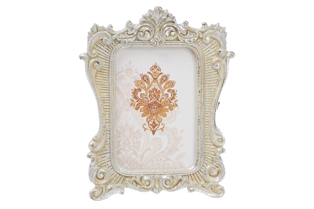 Украшение-подвеска Рамка для фото 12.5см, цвет - серебро с патиной