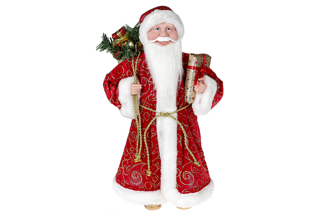 Новогодняя декоративная игрушка Санта 45см цвет красный BonaDi NY14 525