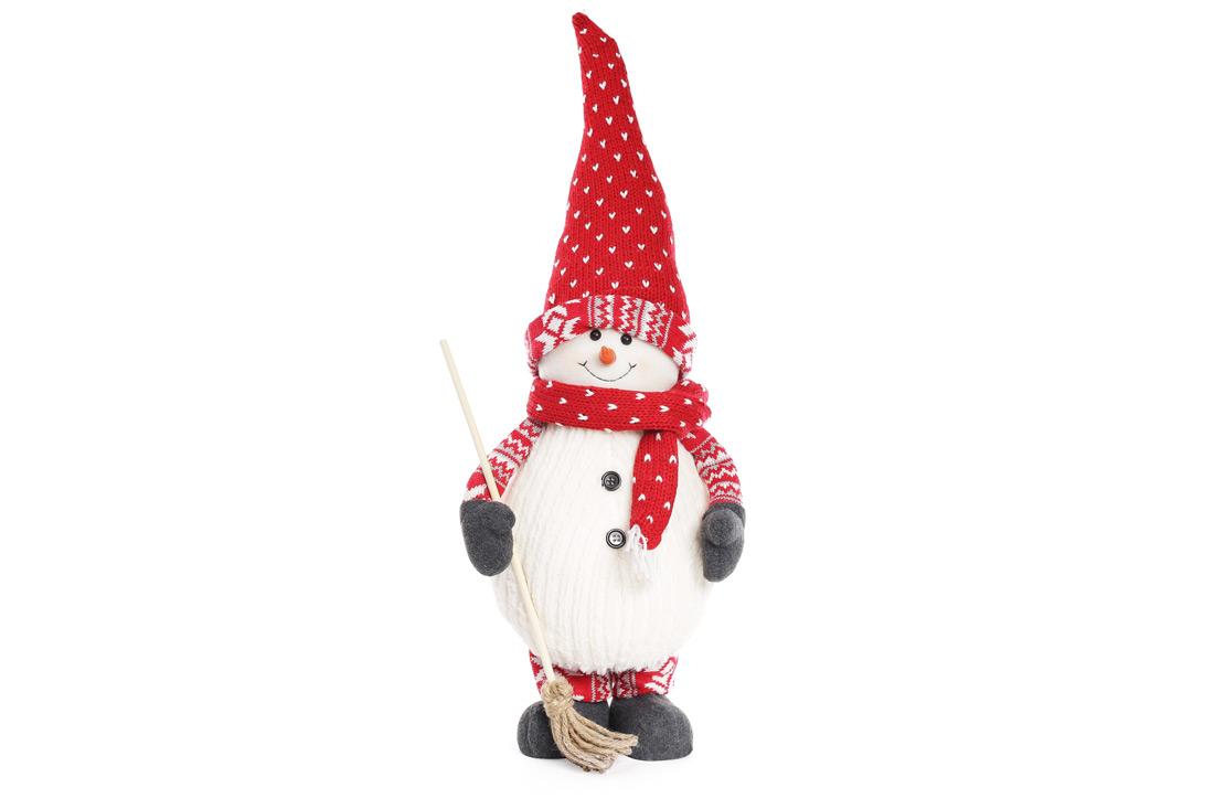 Мягкая новогодняя игрушка Снеговик с метлой 65см BonaDi 822 150