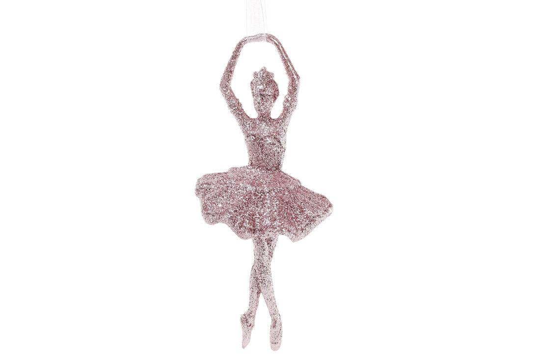 Елочное украшение Балерина 17см, цвет - светло-розовый