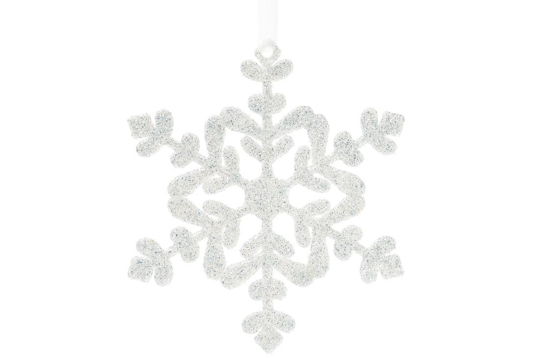 Елочное украшение Снежинка 11см цвет - морозный голубой BonaDi 788-545