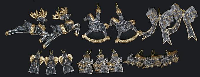 Набор новогодних украшений, 6 видов в дисплей коробке