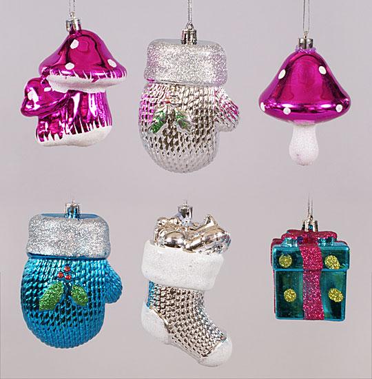 Новогоднее украшение, 6 видов в дисплей коробке
